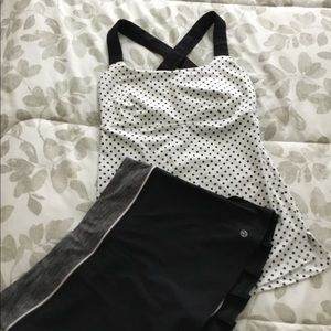 Adorable Lululemon Skirt And Tank Set!